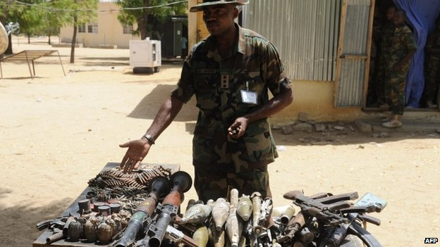 Nigerian soldier in Baga