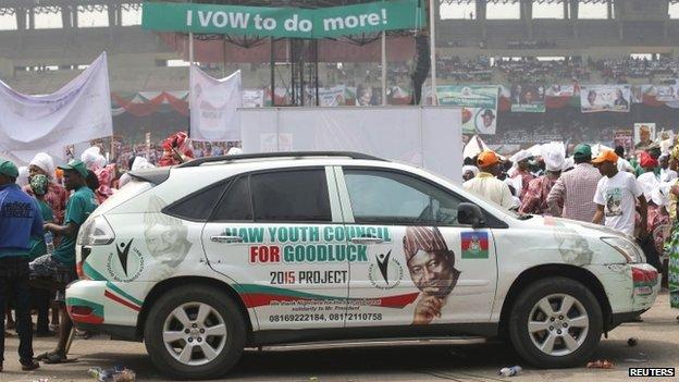 Campaign rally for President Goodluck Jonathan