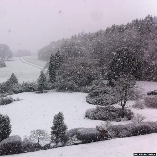 Eira mân, eira mawr yn Llambed / It's a winter wonderland in Lampeter!