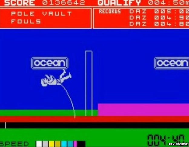 Screenshot from Daley Thompson's Decathlon game