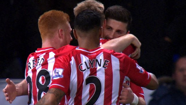 Southampton players celebrate Shane Long's goal against Ipswich in the FA Cup