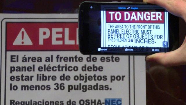 87d9f6ecc5c673 Google Translate  turns interpreter  with voice function - BBC News