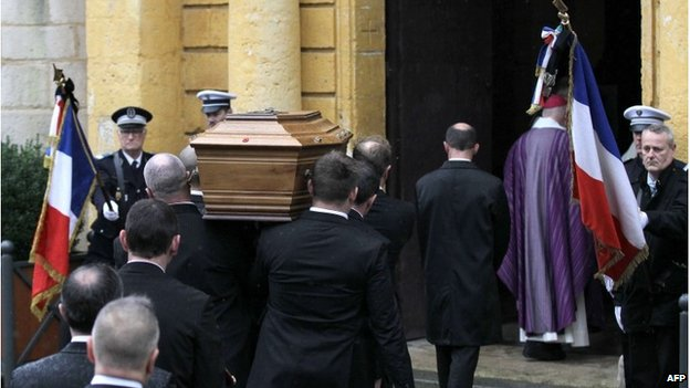 Funeral of Franck Brinsolaro, 15 January 2015