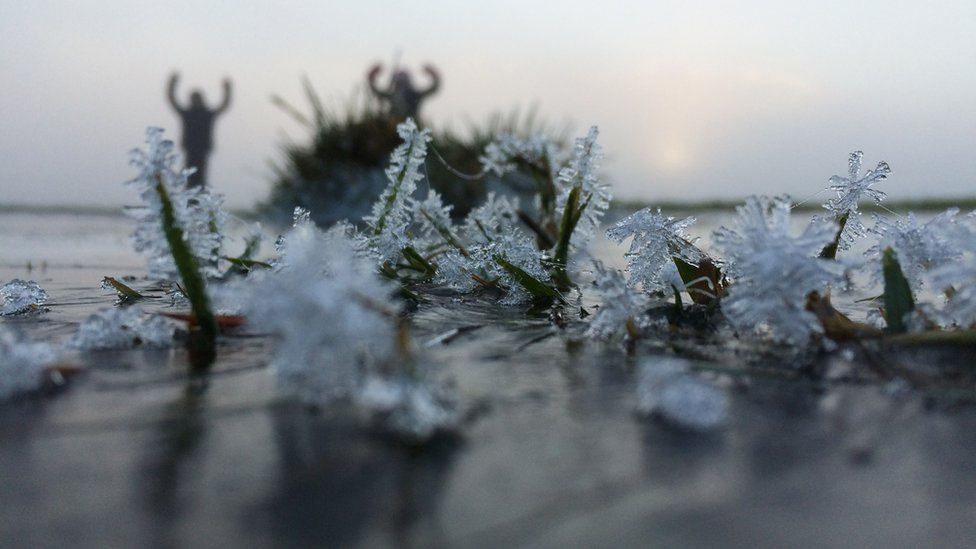 Icy field
