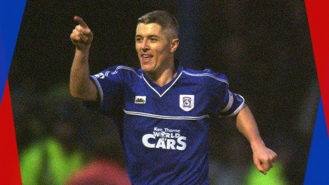 Cardiff captain Graham Kavanagh celebrates his goal