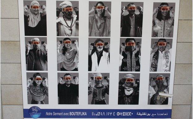 Political poster in support of Abdelaziz Bouteflika
