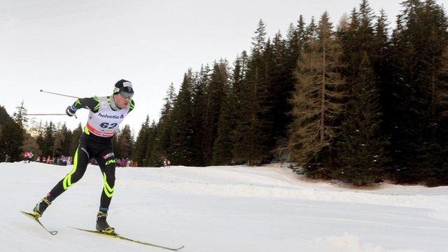 Skier in Davos, file pic