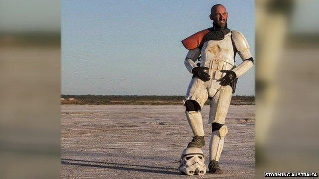 Scott Loxley dressed as a desert stormtrooper