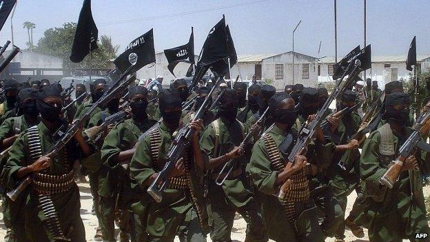 Al-Shabab fighters in Somalia - 2011