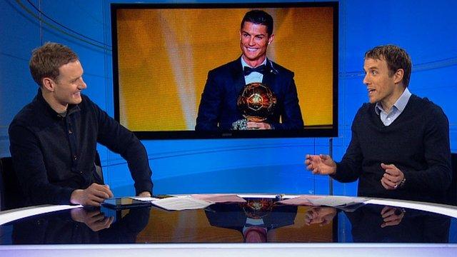 BBC Sport's Dan Walker and Philip Neville