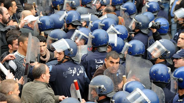Protest in Algiers, February 2011