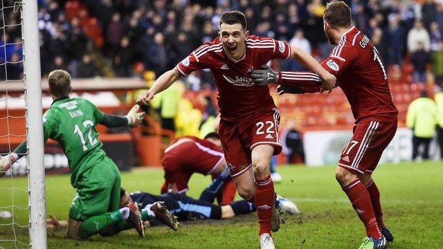 Ryan Jack celebrates his late Aberdeen equaliser