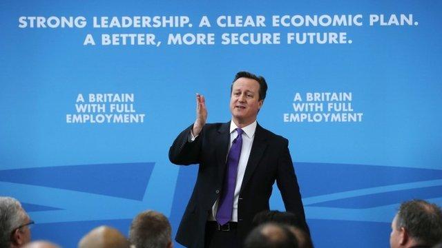 David Cameron during speech in Ipswich