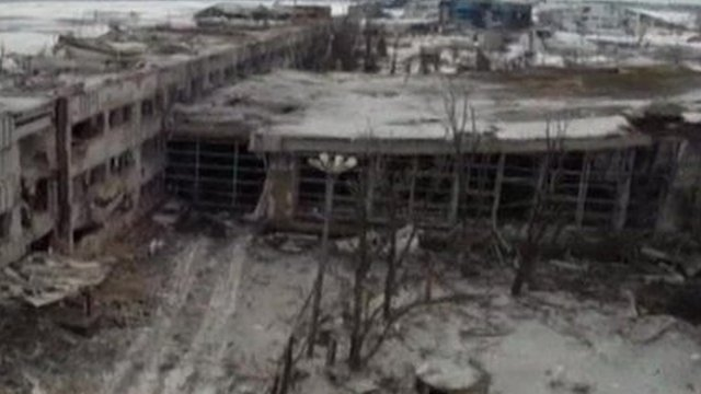 The remains of Donetsk airport