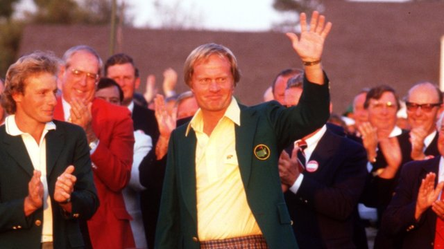 Jack Nicklaus wins the 1986 Masters at Augusta