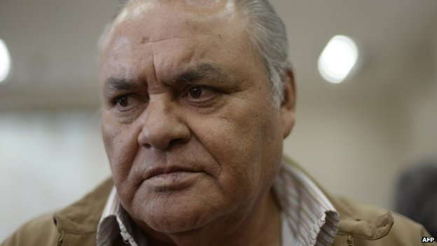 Pedro Garcia Arredondo is seen in court during the hearing of his trial for a fire at the Spanish embassy in 1980 on 19 January 2015