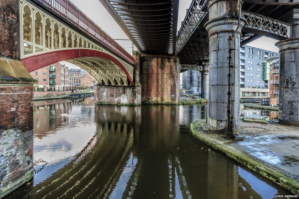 Bridges over Potato Wharf Rochdale Canal, Castlefield, Manchester