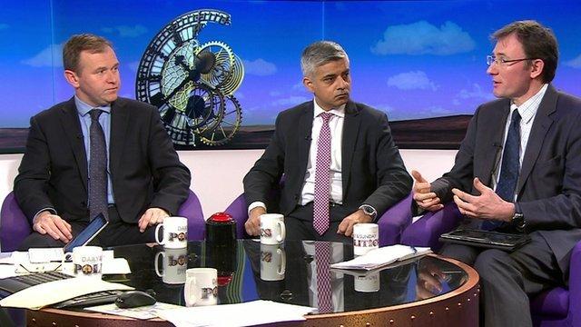 George Eustice, Sadiq Khan and James Landale