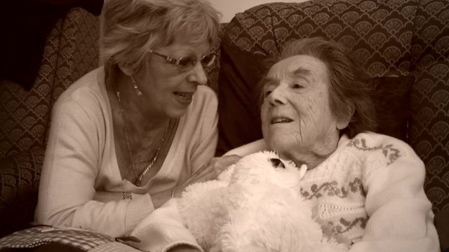 Ann Reid and her mother
