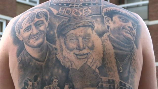 Darren Williams' tattooed back