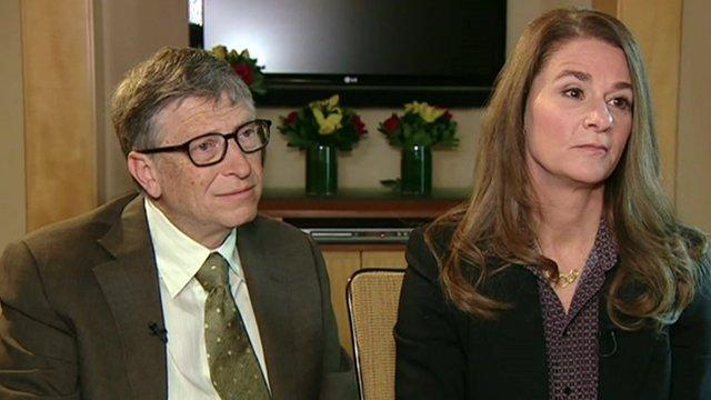 Bill and Melinda Gates speak to BBC World