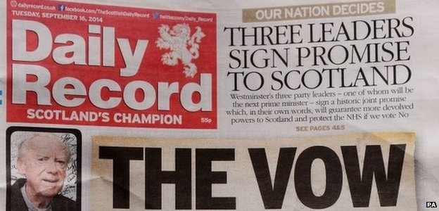 Daily Record's vow