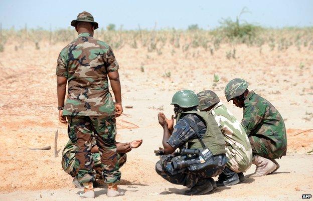 Soldiers in Baga, Nigeria