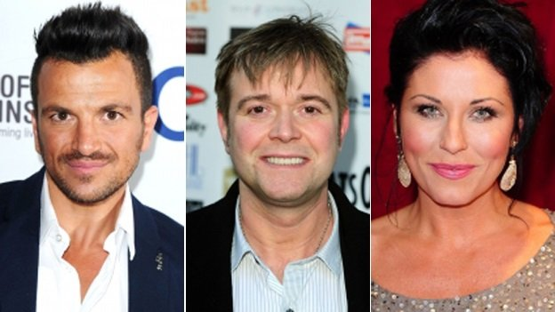 Peter Andre, Darren Day and Jessie Wallace