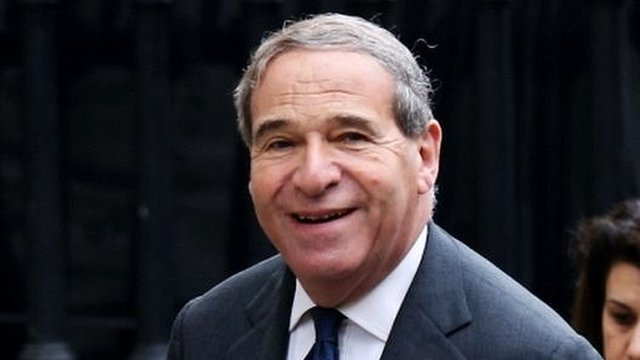 Former Cabinet minister Leon Brittan attending the Ceremonial funeral of former British Prime Minister Baroness Thatcher