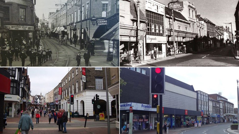 Ipswich town centre through the years