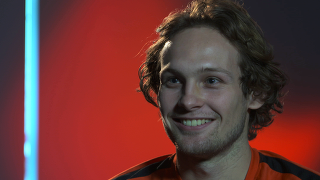 Daley Blind speaking to BBC Sport