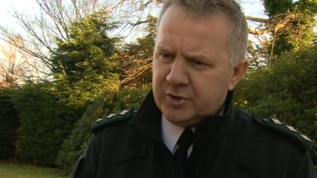 PSNI Chief Inspector Alan Hutton told BBC News NI's Keiron Tourish a wooden cross was left in place of the statue