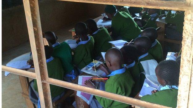 Pupils in class at the Leaders Vision Preparatory School in Ndalat, Kenya