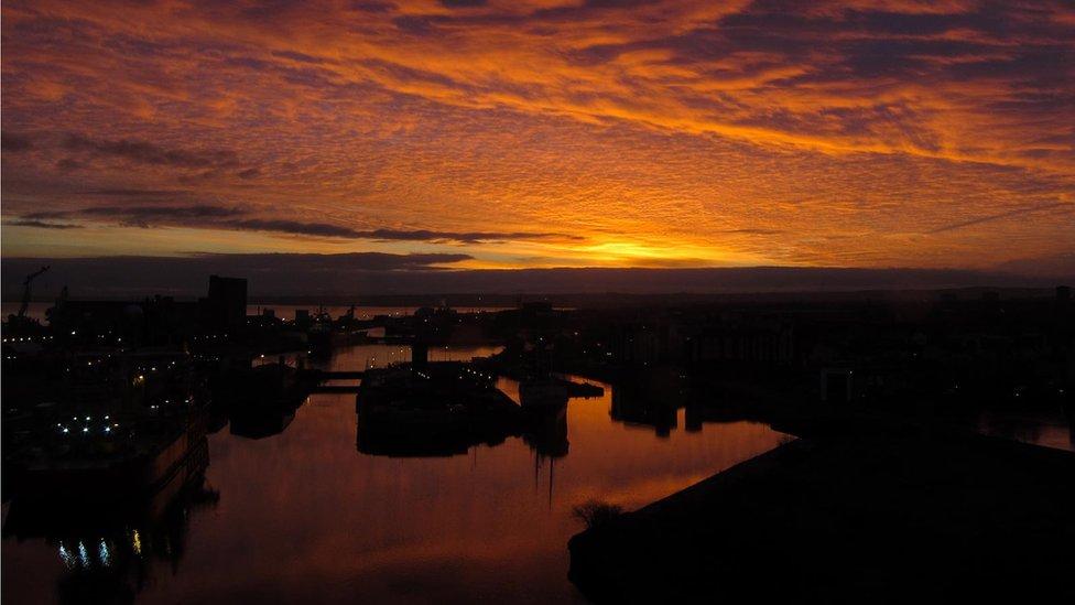 Sunrise over Leith