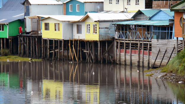 Palafitos - houses on stilts over the water