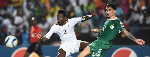 Asamoah Gyan scores for Ghana