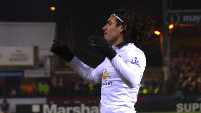 FA Cup: Falcao denied by great from Chris Dunn