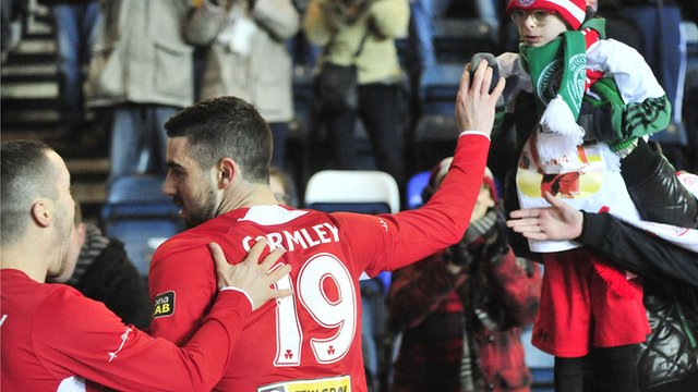 Joe Gormley put Cliftonville into an early lead against Ballymena