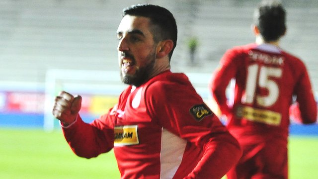 Joe Gormley of Cliftonville