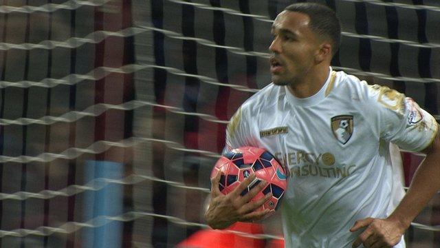 Callum Wilson pulls a goal back for Bournemouth against Aston Villa