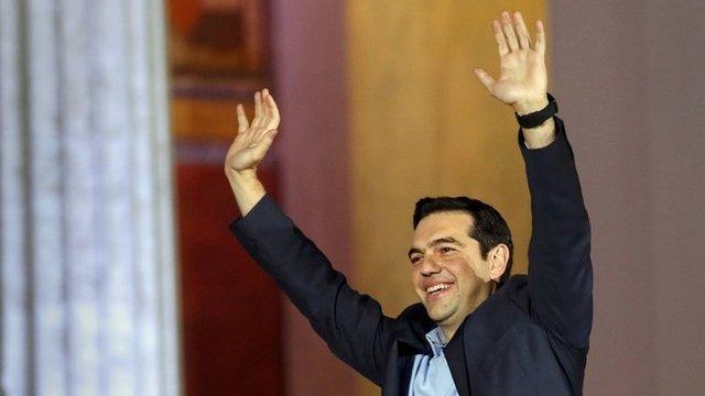 Head of radical leftist Syriza party Tsipras