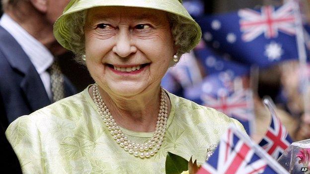 Queen Elizabeth in Australia, 2006
