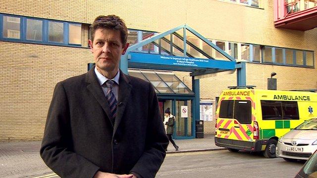 Hugh Pym outside a hospital