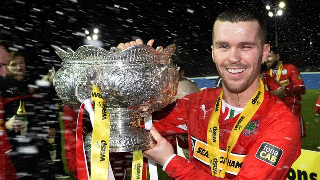 Martin Donnelly scored the winner in the League Cup final for Cliftonville