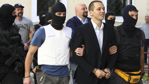 Arrests of Golden Dawn MPs, Oct 2013