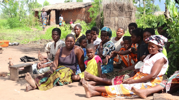 Displaced people at Miwemba Relief Camp