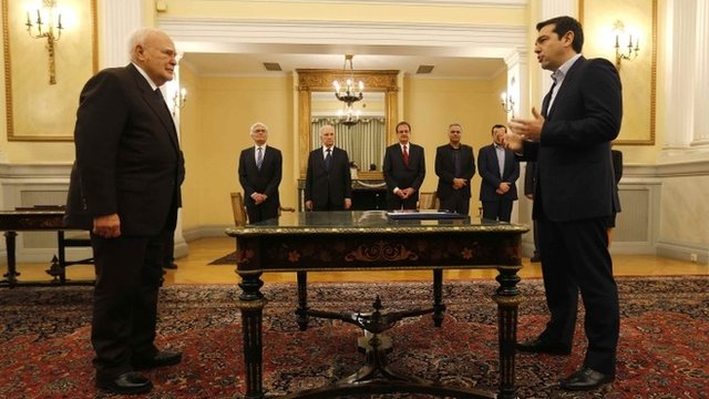 Alexis Tsipras sworn in as new PM