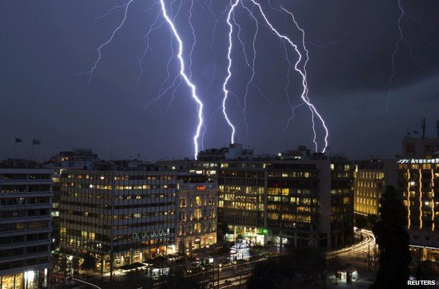 Lightning over Athens, 26 January