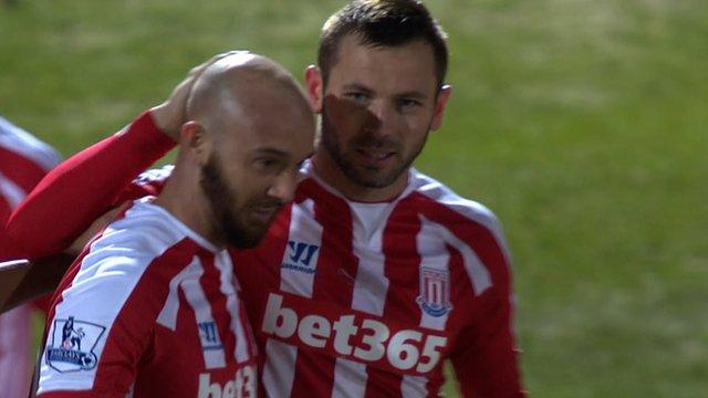 Stephen Ireland scores for Stoke