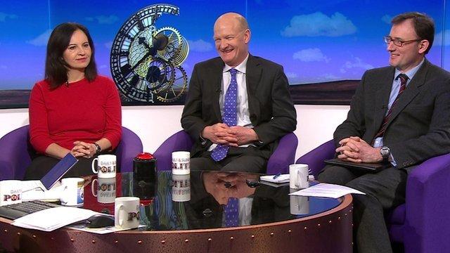 Caroline Flint, David Willetts and James Landale